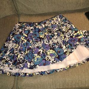 Mini skirt with Tulle underlay
