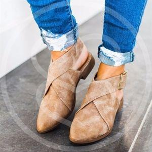 Shoes - RESTOCK AVA Slip-on Flats - BLACK