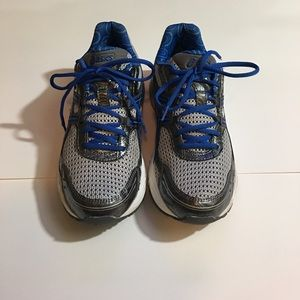 Asics blue and gray Gel running shoes. Size 9