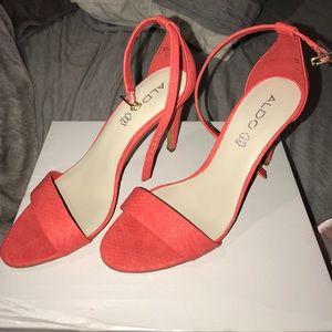 Orange Aldo heels size: 9