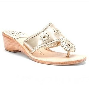 NEW Jack Rogers 'Hamptons' Mid Wedge Sandals 6