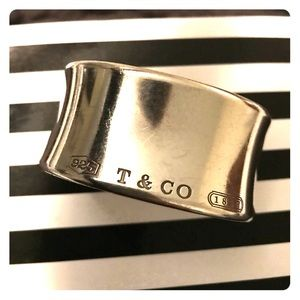 T & Co 925 1837 signature large Tiffany & Co Cuff