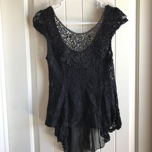 Lace Bow Tank Top Blouse
