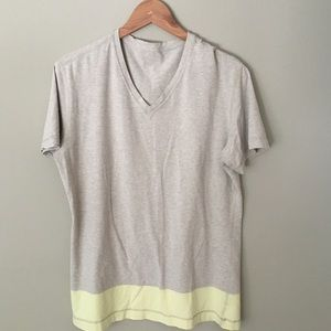 Lululemon Tan Yellow Short Sleeve Tee Sz. 10