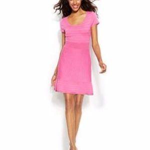 INC pink sweater skater dress XL