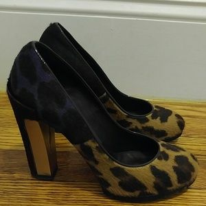 Brian Atwood leopard print heels