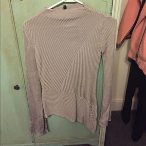 Topshop asymmetrical rubbed sweater