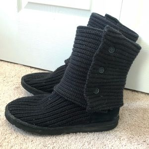 Black Knit Cardy UGGs