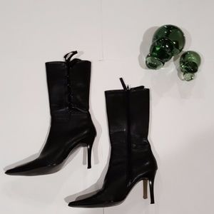 Diba Women's Leather Pointy Boots Size 7