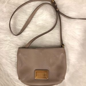 Marc by Marc Jacobs leather crossbody taupe