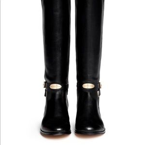 Michael Kors Riding Boots - Black and silver