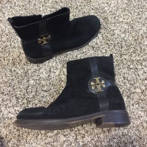 Tory burch suede leather boots