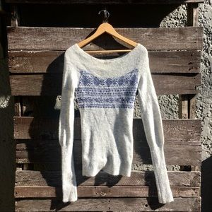 Free People Off the Shoulder Wool Sweater