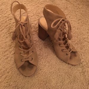 Jessica Simpson lace up booties