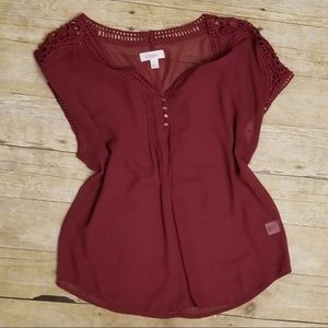 Candies Red Sheer Blouse