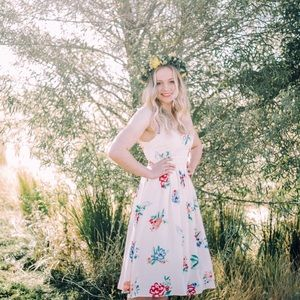 BB Dakota Multi Floral Heleen Dress