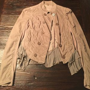 Size 0 Free People double breasted jacket