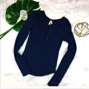 """Free People """"We the Free"""" Navy Thermal"""