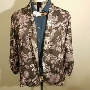 Floral 2xl blazer