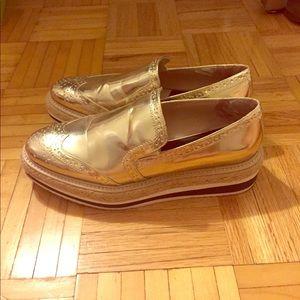 Zara Platform Espadrille Loafers