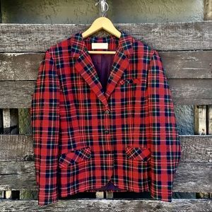 Vintage Women's Pendleton Plaid Blazer