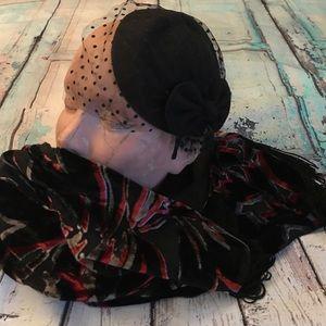 NWT vintage look fascinator hat on headband