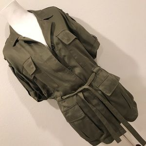 Forever 21 Military Utility Jacket Olive Green