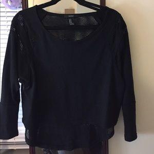 F21 long sleeve black top