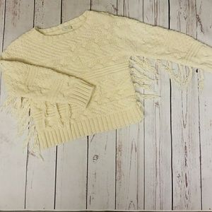 ZARA knit fringe sweater