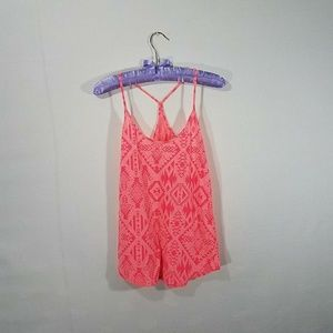 Pink/Red Tank Top by Pink Victoria Secret