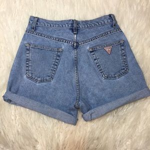 Vintage High Rise Guess Denim Shorts