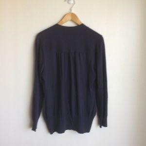 Banana Republic Sweaters - Banana Republic Purple Sweater Deep V tie. Size L