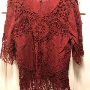 Lane Bryant beautiful crochet blouse