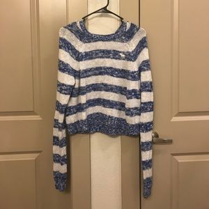 NWOT white and blue striped sweater