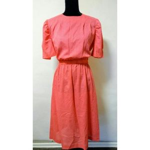 Vintage 70's pink retro swiss dot dress