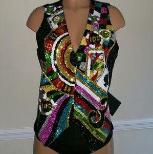 Vegas Style Sequin Blazer