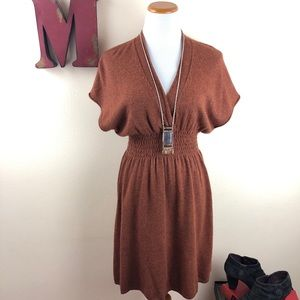ANTHROPOLOGIE Sparrow Fall Foliage Sweater Dress