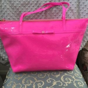 Kate Spade patent leather purse HOT PINK