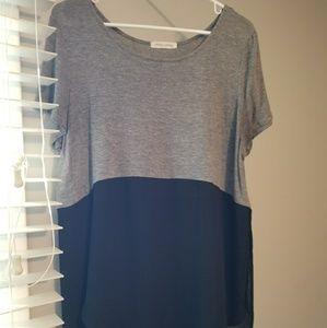 Urban Outfitters black/grey long shirt