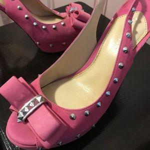 Pink Platform Heels with Studs