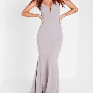MISSGUIDED Bandeau Fishtail Maxi Dress