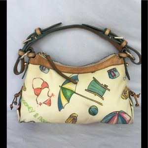 Dooney & Bourke vintage Beach print bag