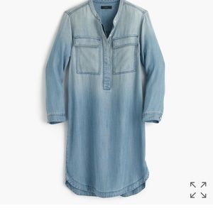 J. Crew Drapey Chambray shirtdress