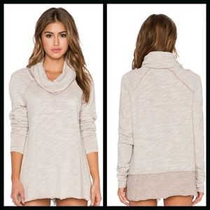 Free People Cocoon Cowl Neck Sweater - Green