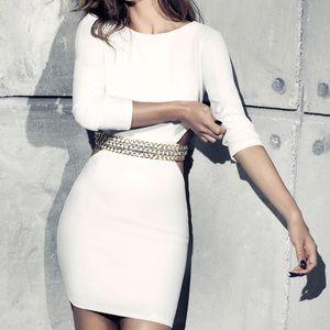 Off White Chain Dress