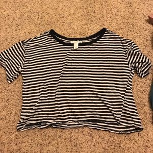 Forever21 striped crop top