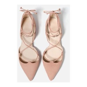 Old Navy • Nude Pink Lace Up Flats