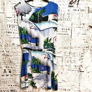 Vintage Forenza Athentic Sportwear Cityscape Dress