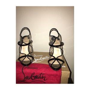 Christian louboutin aqua ronda heels 38.5