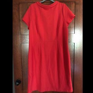 Boden red knit dress